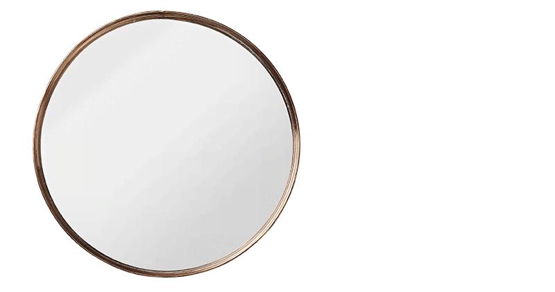 Diy miroir avec cadre en fleurs for Miroir sur mesure