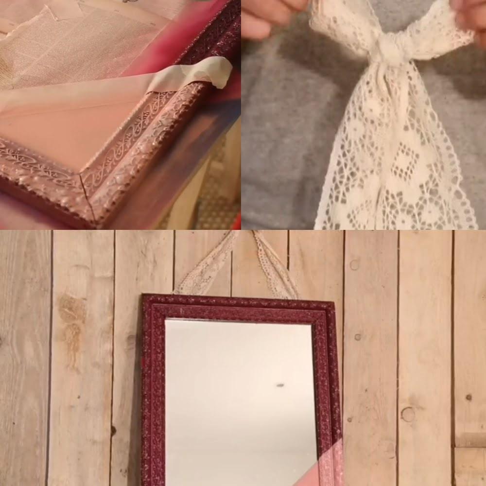Diy 3 id es pour red corer votre miroir ancien for Miroir sur mesure pas cher