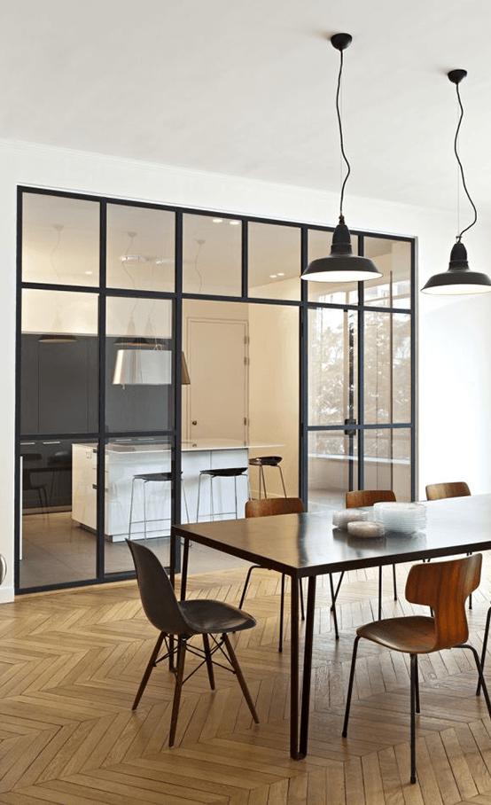 cuisine vitre atelier trendy cloison vitree cuisine salon verrire atelier et petite niche pour. Black Bedroom Furniture Sets. Home Design Ideas