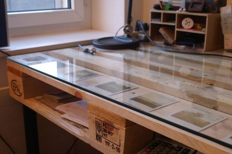 Tutoriel bureau en verre - Bureau plaque de verre ...