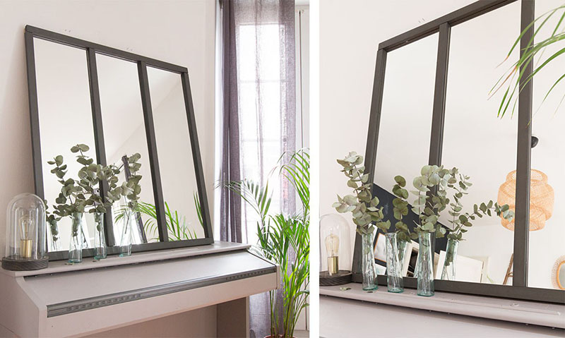 diy miroir verri re. Black Bedroom Furniture Sets. Home Design Ideas