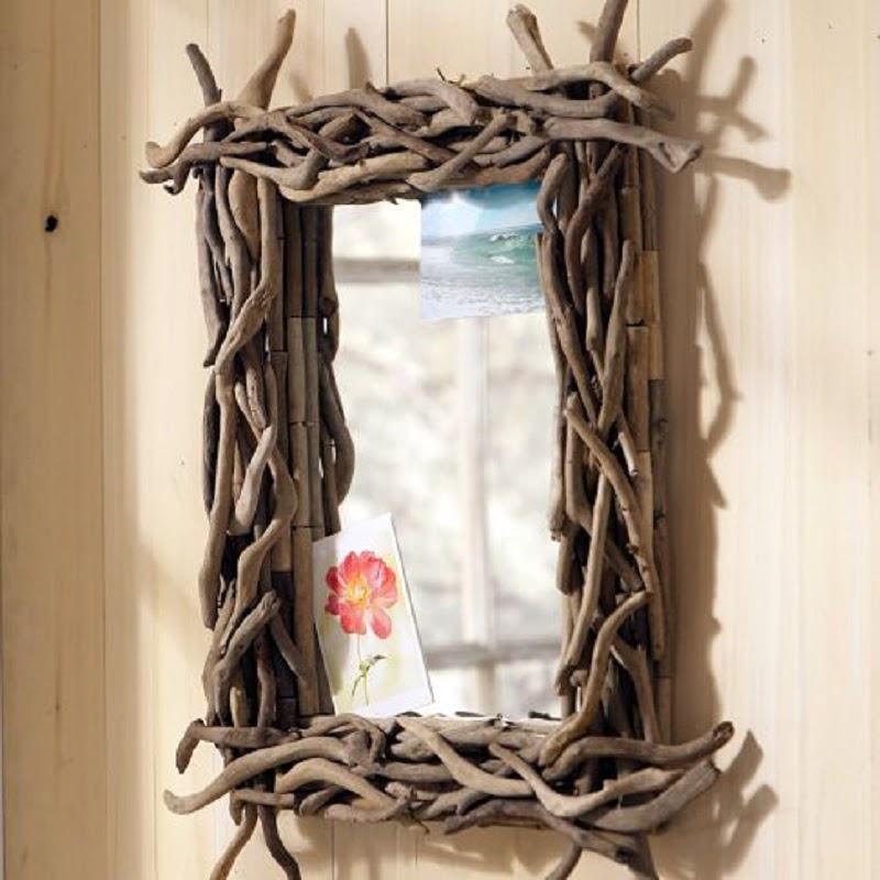 diy miroir avec cadre en bois flott. Black Bedroom Furniture Sets. Home Design Ideas