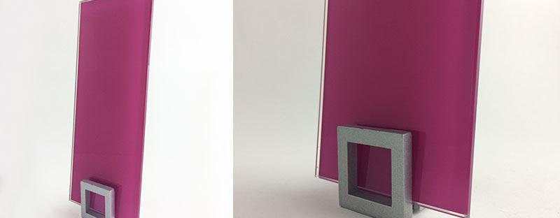 verre laqué coloré pour crédence sur mesure