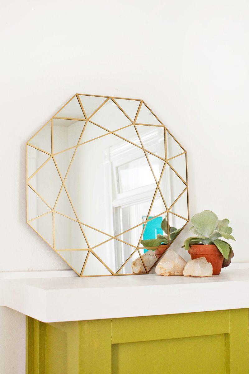 miroir sur mesure géométrique tuto
