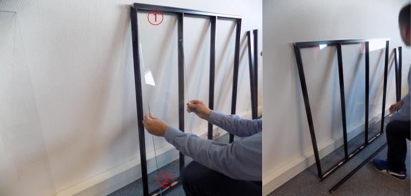 Verrière verre trempé sécurit installation