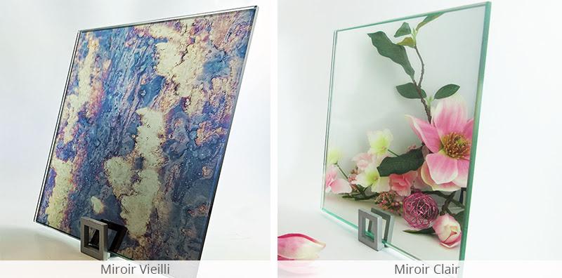 Comparatif miroir vieilli et miroir clair
