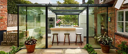 Extension en verre exceptionnelle d'un cottage anglais